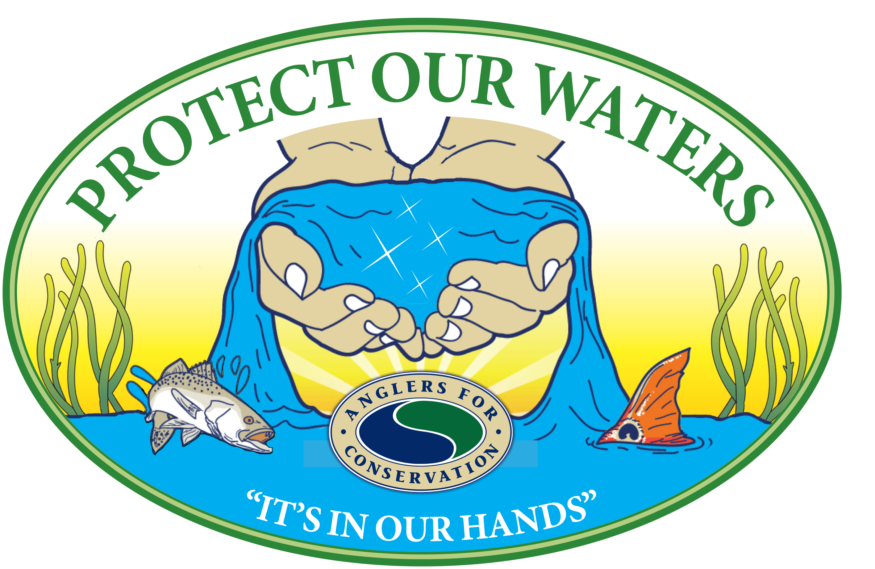 Protect our waters anglers. Fundraiser clipart upcoming event