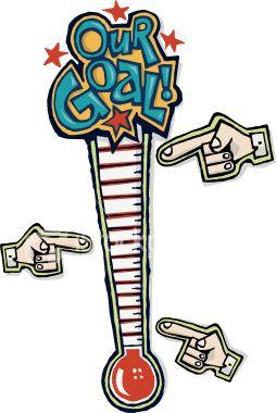Fundraising clipart. Goal charts goals i