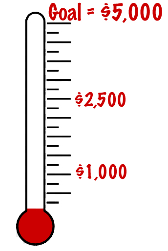 Printable panda free . Fundraising clipart goal thermometer