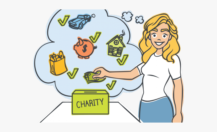 Fundraising clipart lunch money. Charitable giving cartoon