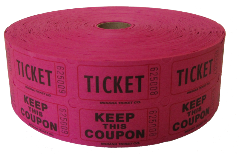 Pink tickets acur lunamedia. Fundraising clipart roll raffle ticket