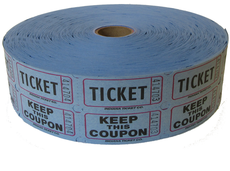 Fundraising clipart roll raffle ticket. Blue tickets acur lunamedia