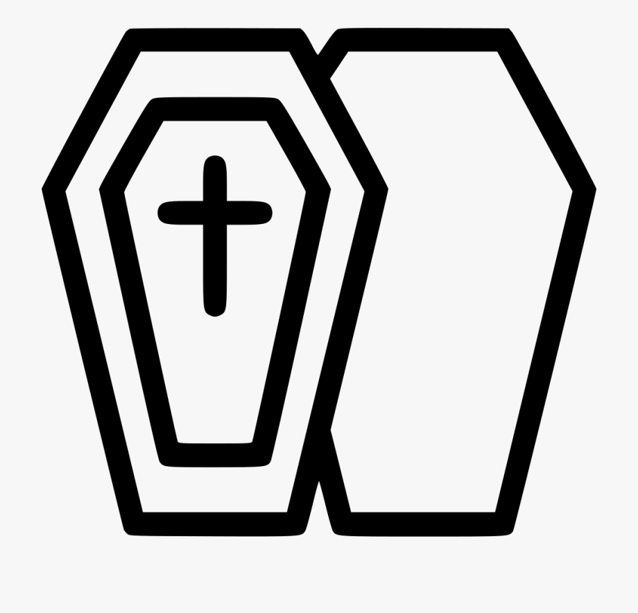 Svg coffin icon png. Funeral clipart box