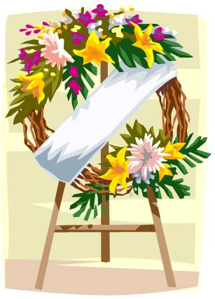 Funeral clipart cartoon. Flowers station