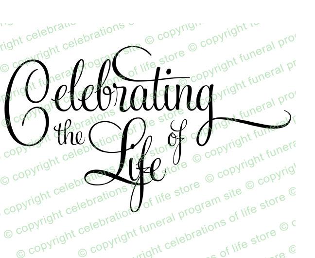 Funeral clipart celebration life. Celebrating the of program