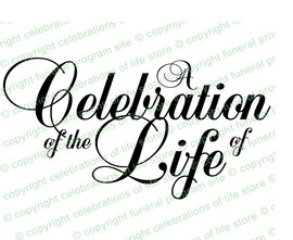 A of blessed program. Funeral clipart celebration life
