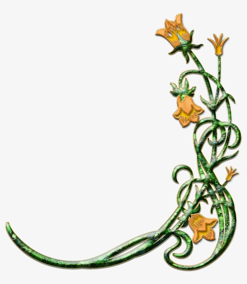 Flower religious border . Funeral clipart easter