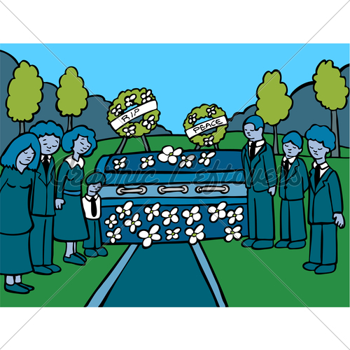 Funeral clipart event. Service dark gl stock