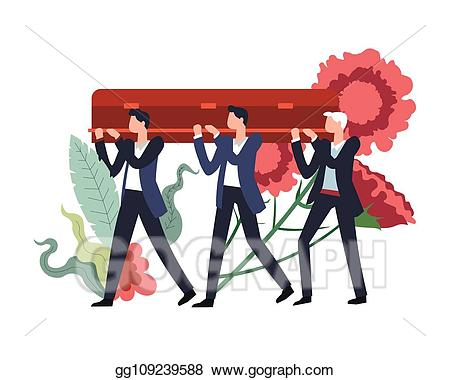 Vector stock ceremony people. Funeral clipart funeral procession