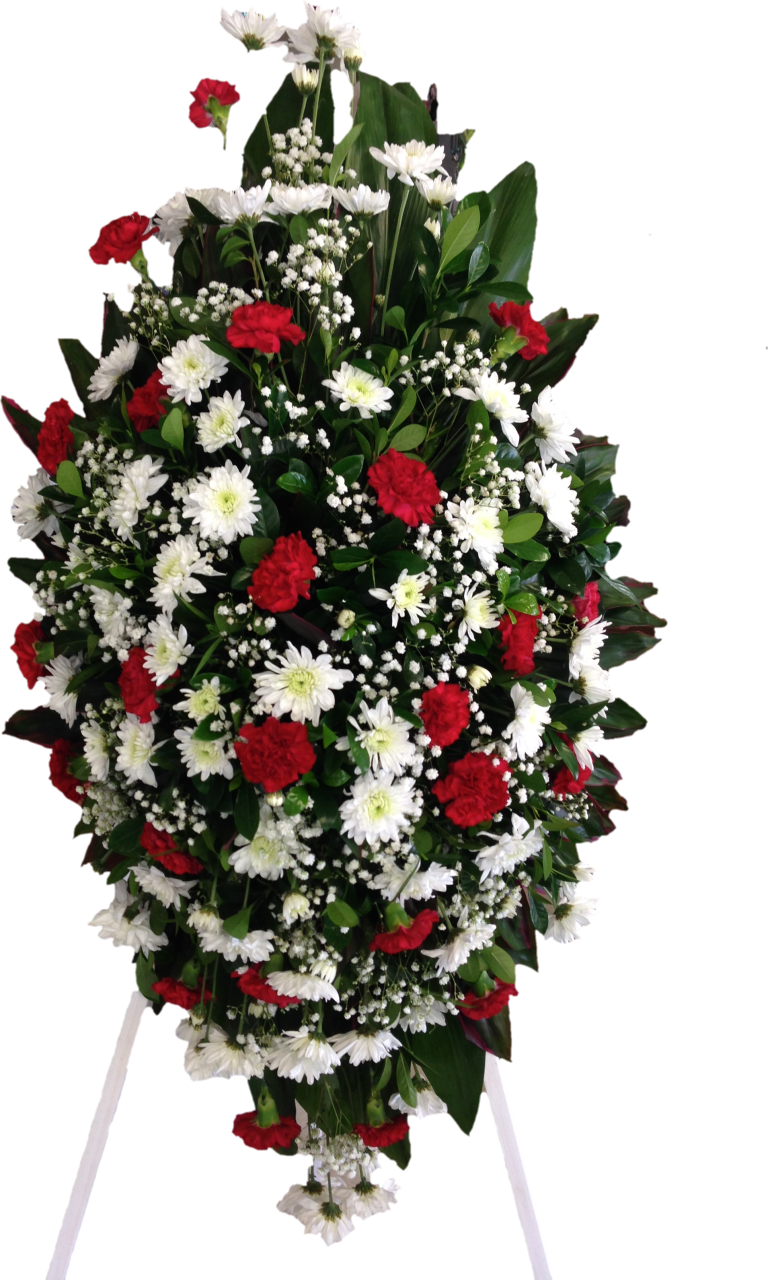 Island flowers by liana. Funeral clipart funeral wreath
