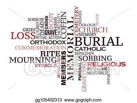 Funeral clipart grave. Eps vector or burial