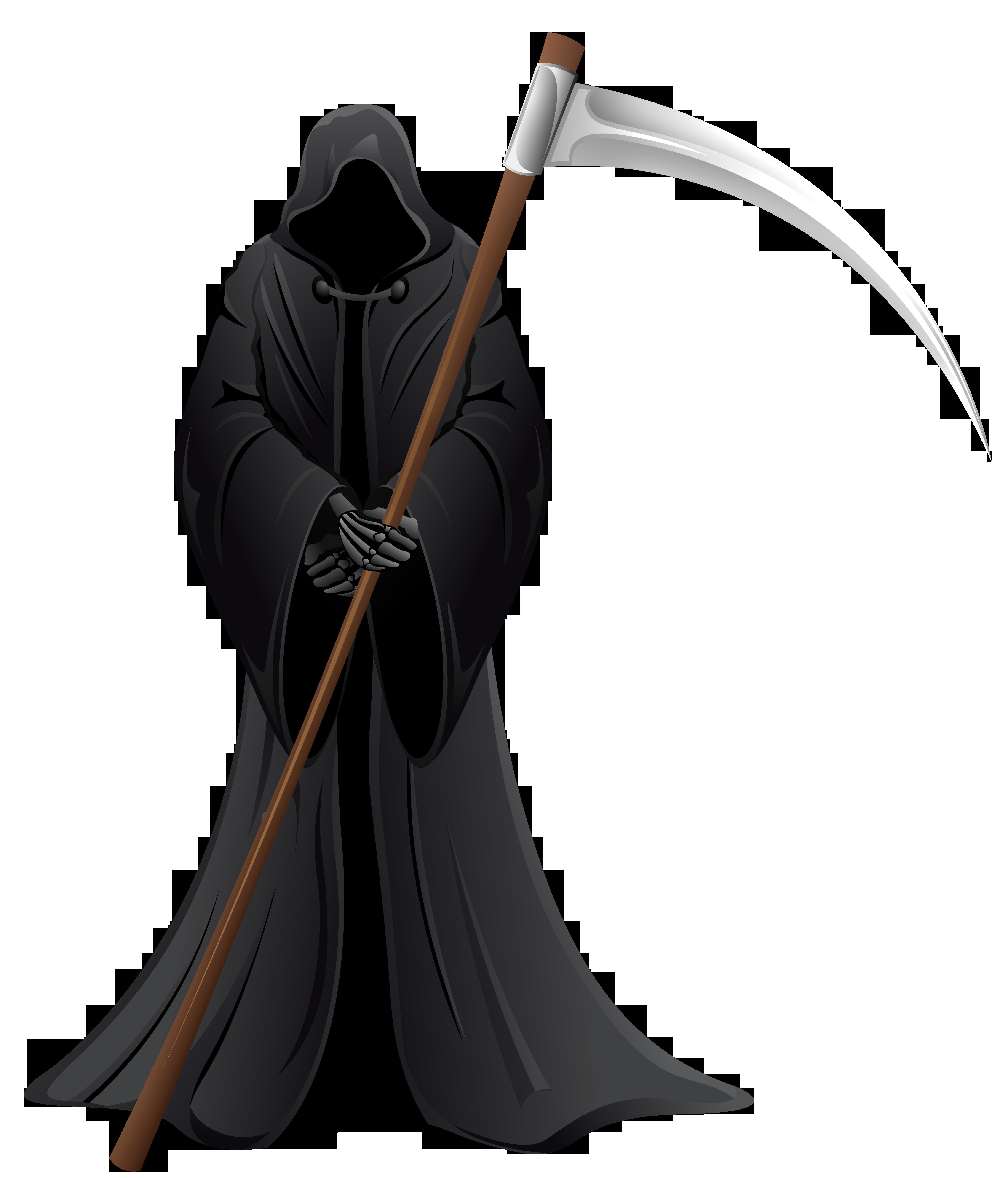 Funeral clipart halloween. Grim reaper gtim free