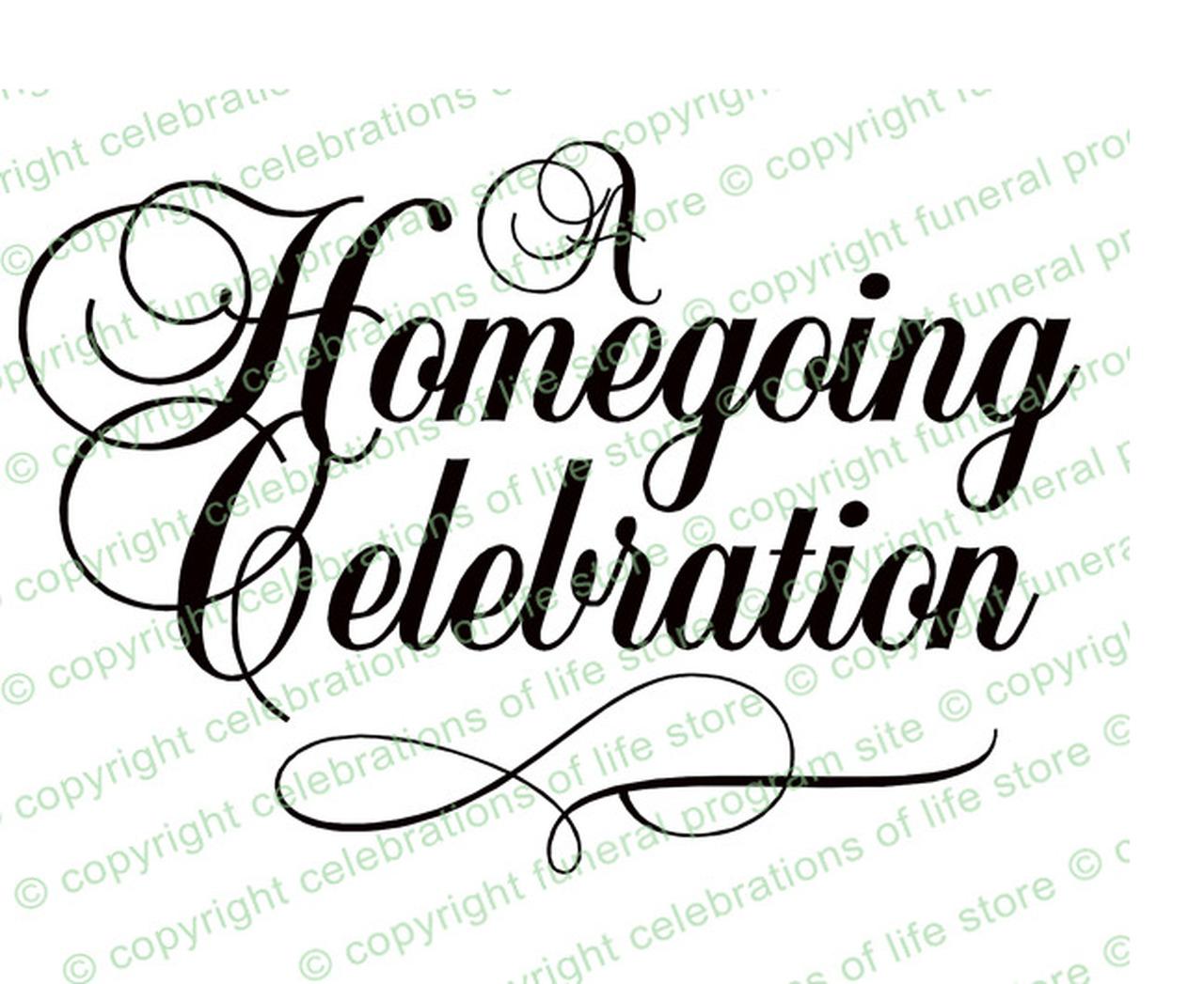 A program title . Funeral clipart homegoing celebration