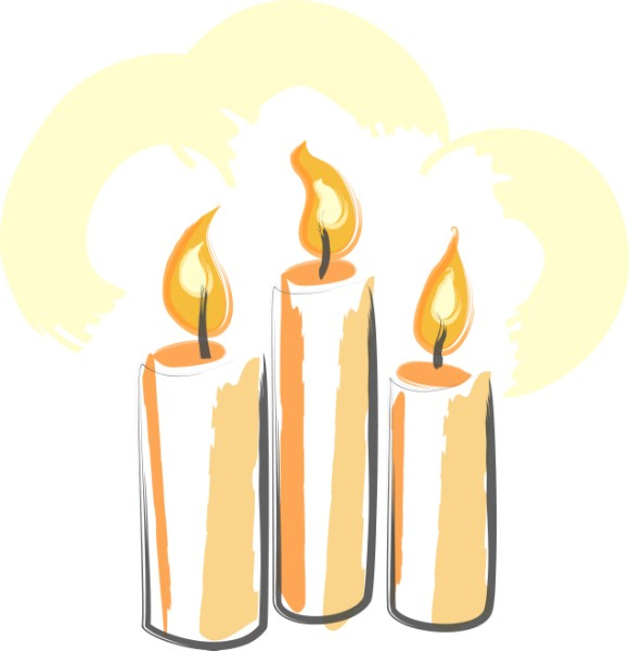 Funeral clipart memorial candle. Cliparts zone