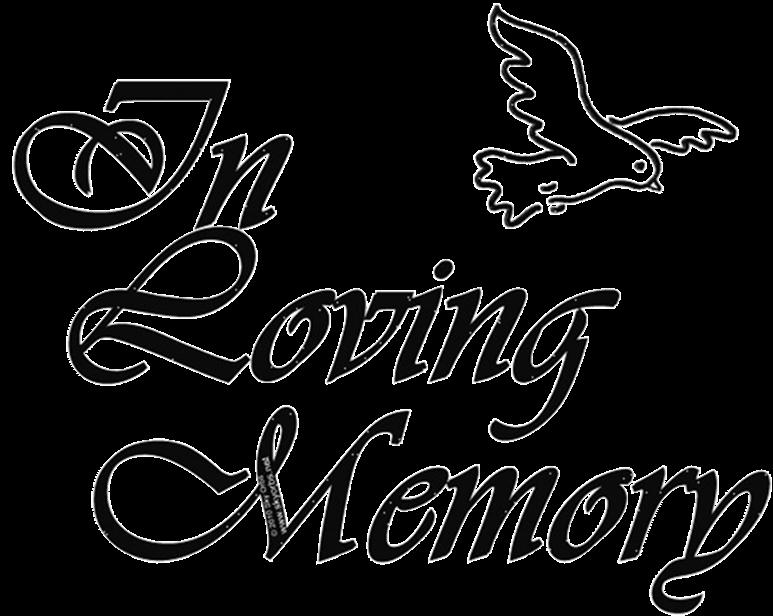 Words clipart memories. Memorial service free download