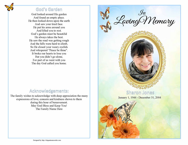 Booklet sample programs . Funeral clipart obituary