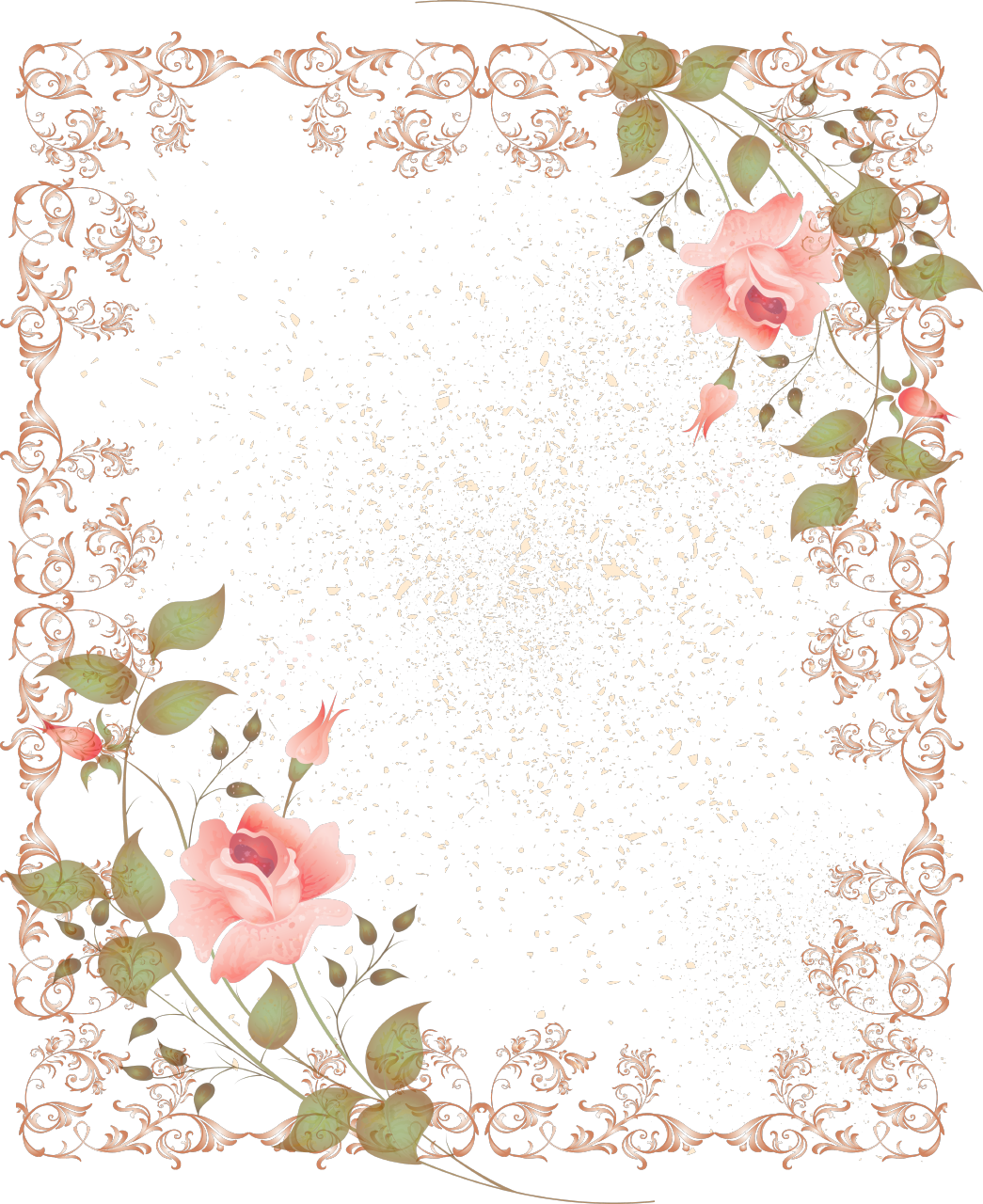 Funeral clipart picture frame. Pink rose free on