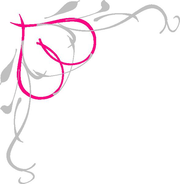 Funeral clipart scrollwork. Heart scroll design clip