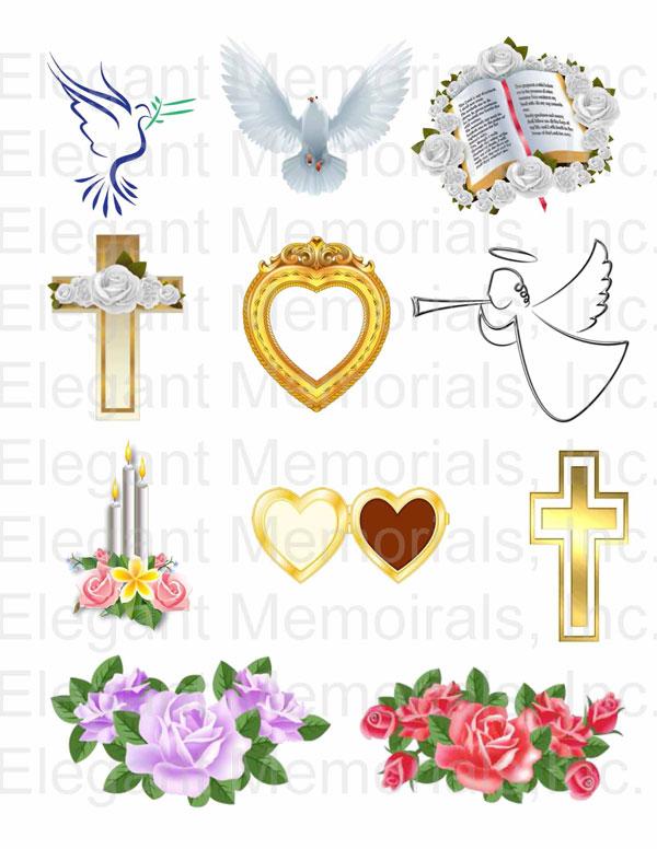 Funeral clipart symbol. Program and memorial vol