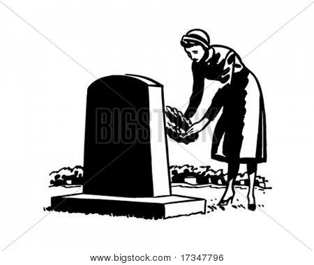 Funeral clipart widow funeral.