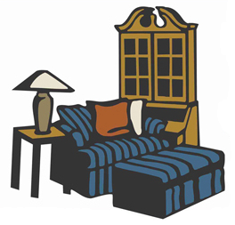 Interior design meaning. Furniture clipart