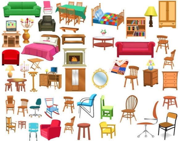 A variety of clip. Furniture clipart