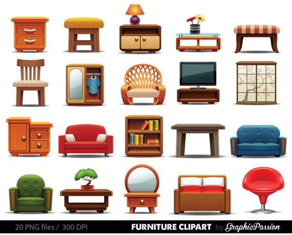 Furniture clipart. Home decor