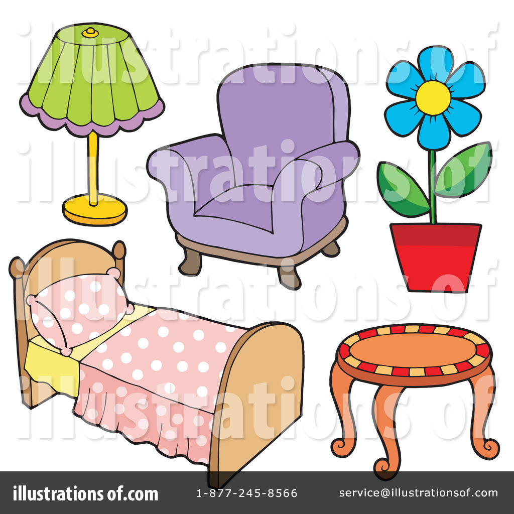 Furniture clipart. Illustration by visekart royaltyfree