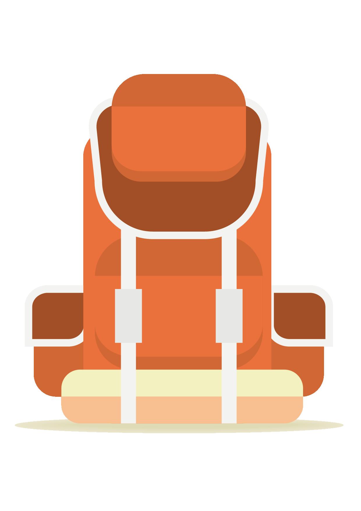Furniture clipart adobe illustrator. Chair cartoon red bag