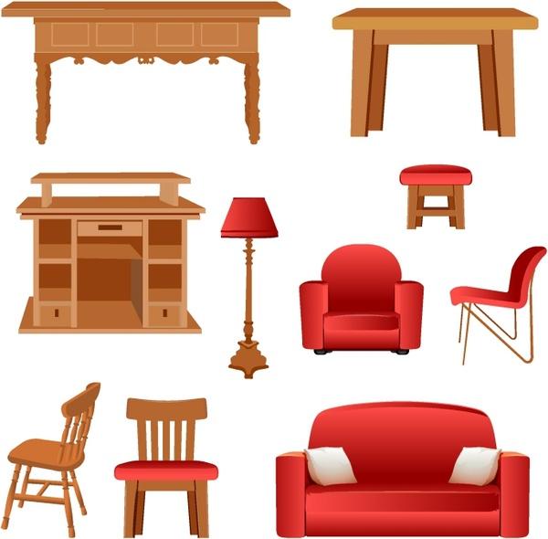 Free vector in ai. Furniture clipart adobe illustrator