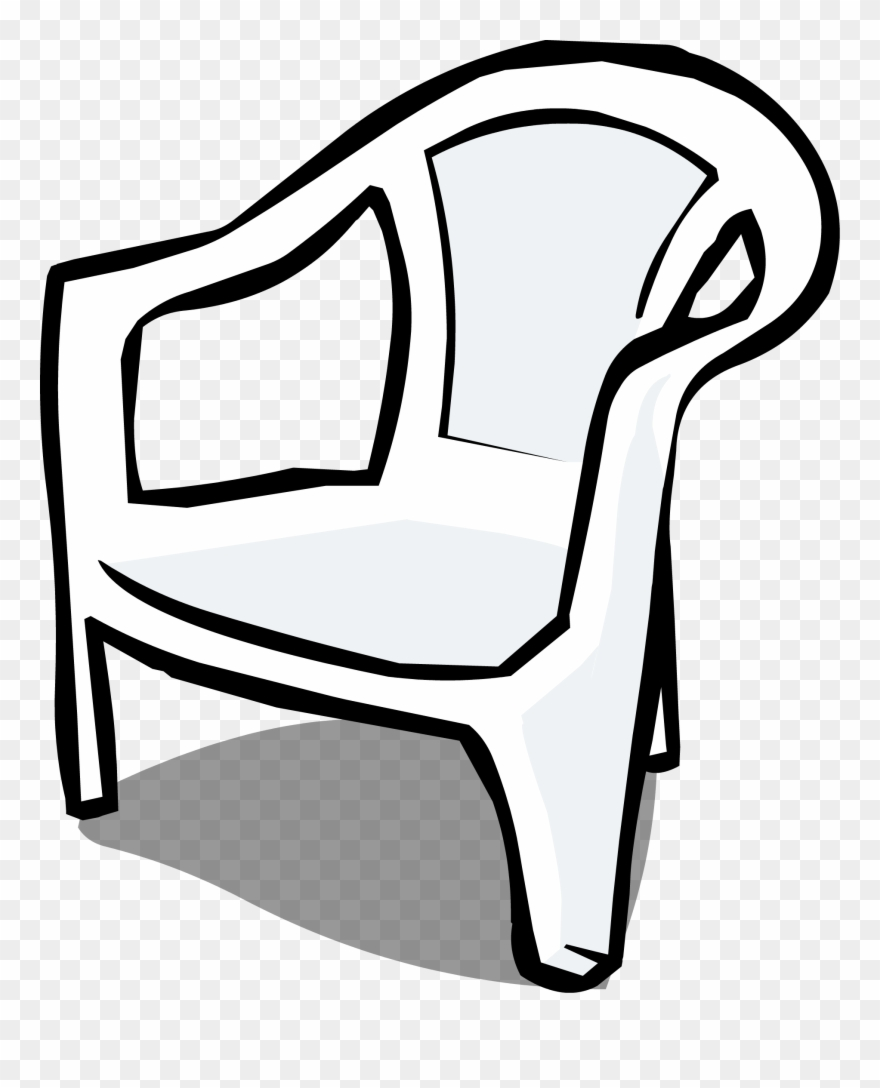 Plastic chair black and. Furniture clipart almira