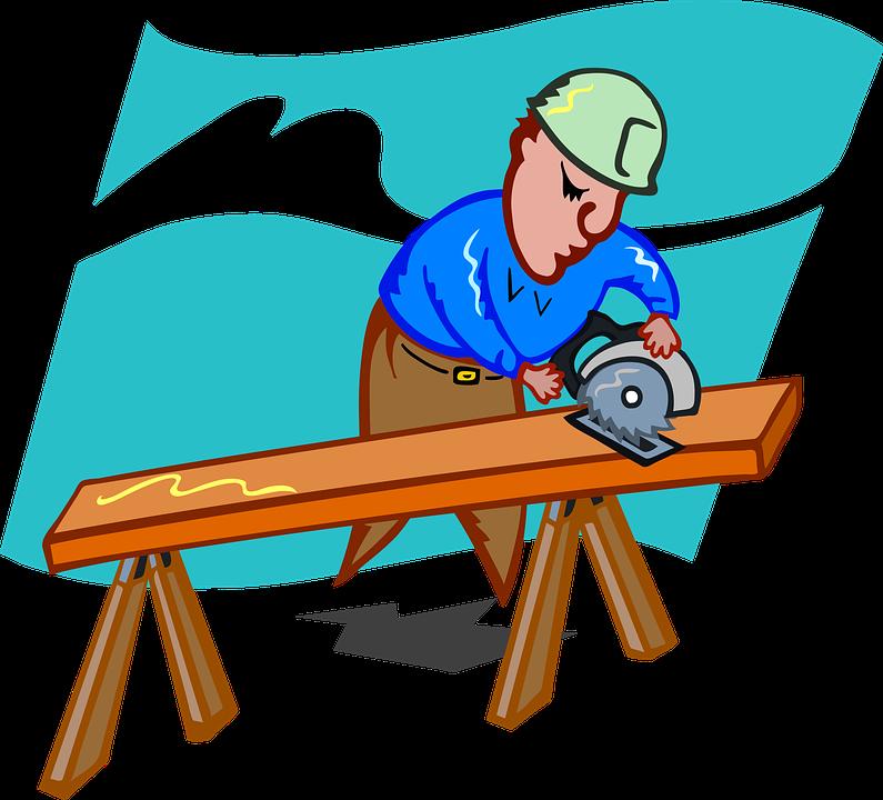Furniture clipart animated. Carpenter craftsmen frames illustrations