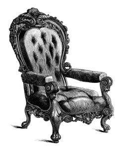 Vintage chair clip art. Furniture clipart antique furniture