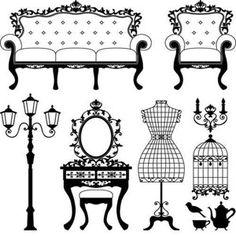 Clip art library . Furniture clipart antique furniture