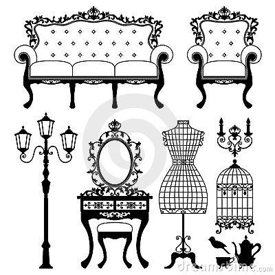 Furniture clipart antique furniture. Panda free