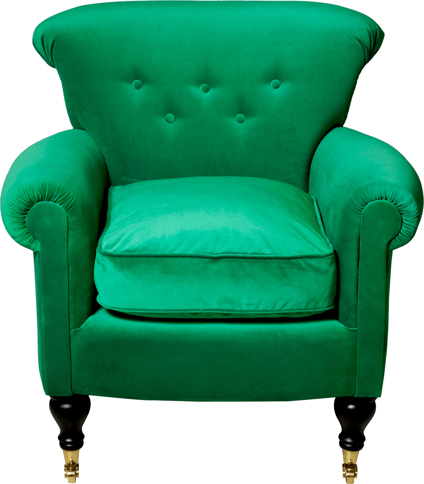 Comfy green armchair transparent. Furniture clipart arm chair
