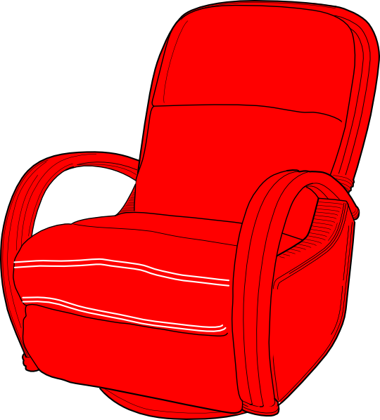 Furniture clipart arm chair. Lounge red clip art