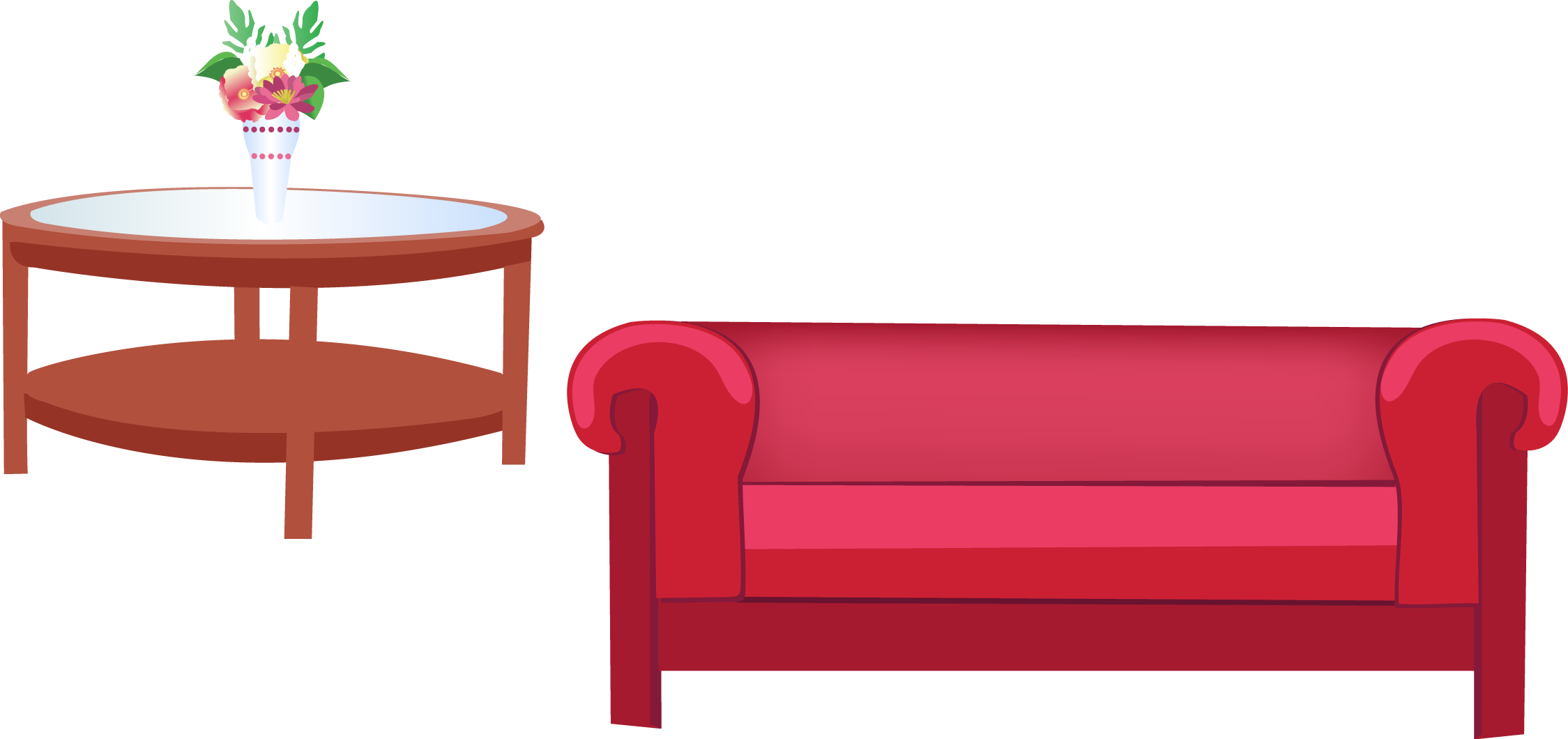 Bedroom living room couch. Furniture clipart bed