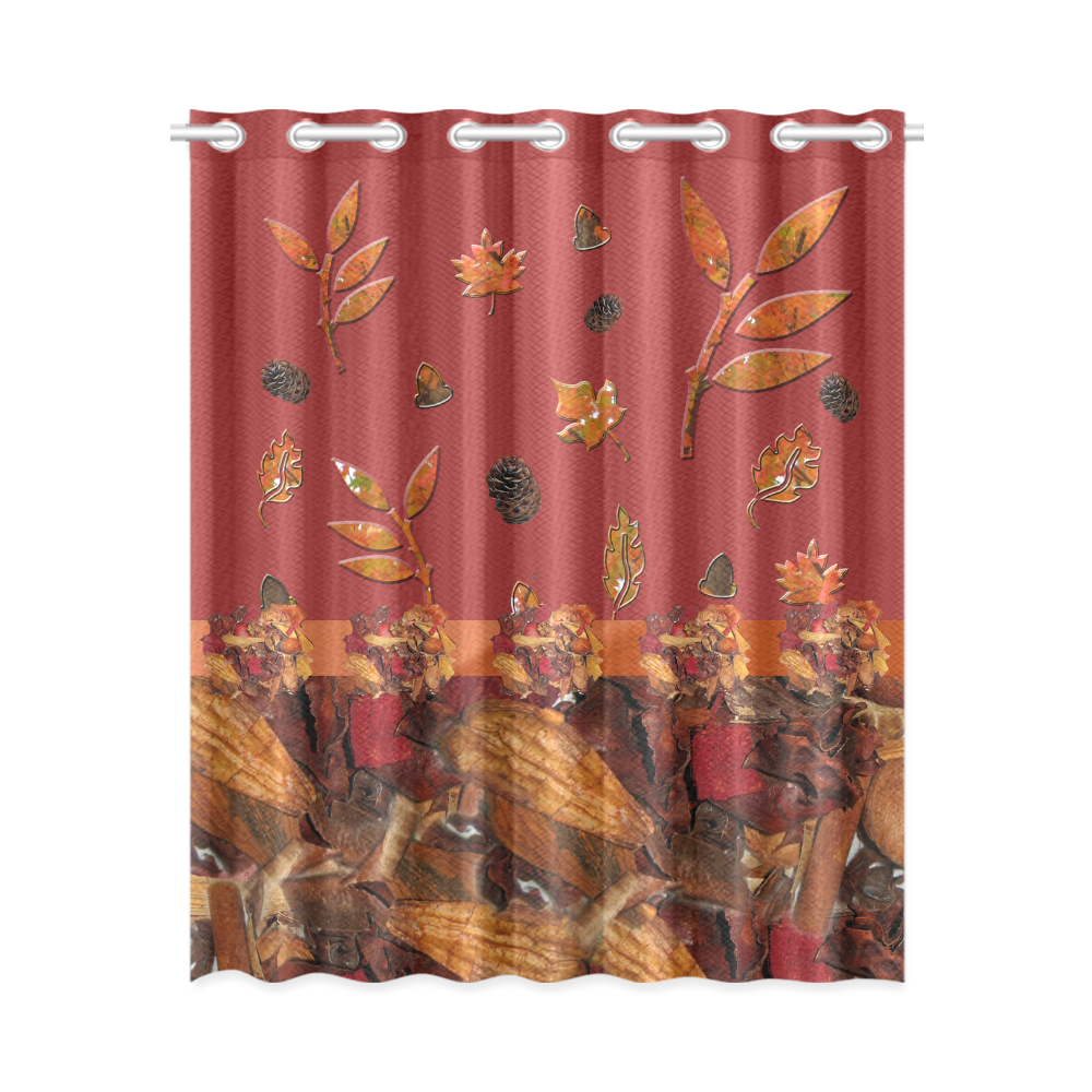 Autumn potpourri window curtains. Furniture clipart bedroom curtain