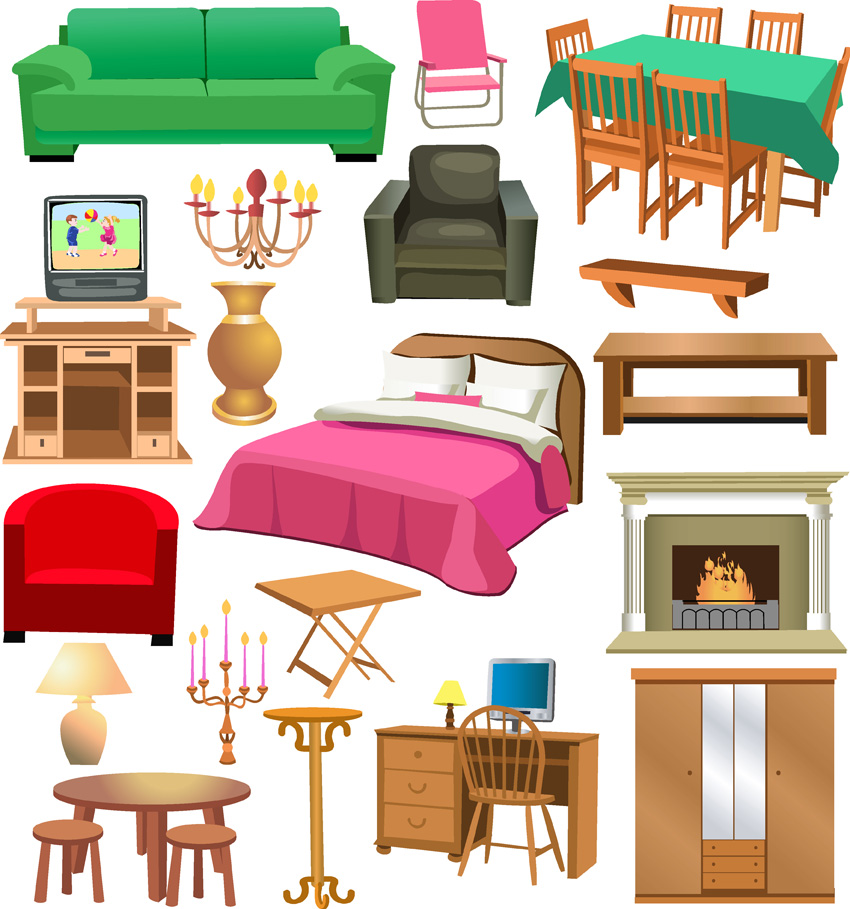 Ancient roman rich house. Furniture clipart bedroom furniture