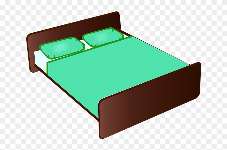 Furniture clipart bedroom thing. Bed cartoon transparent
