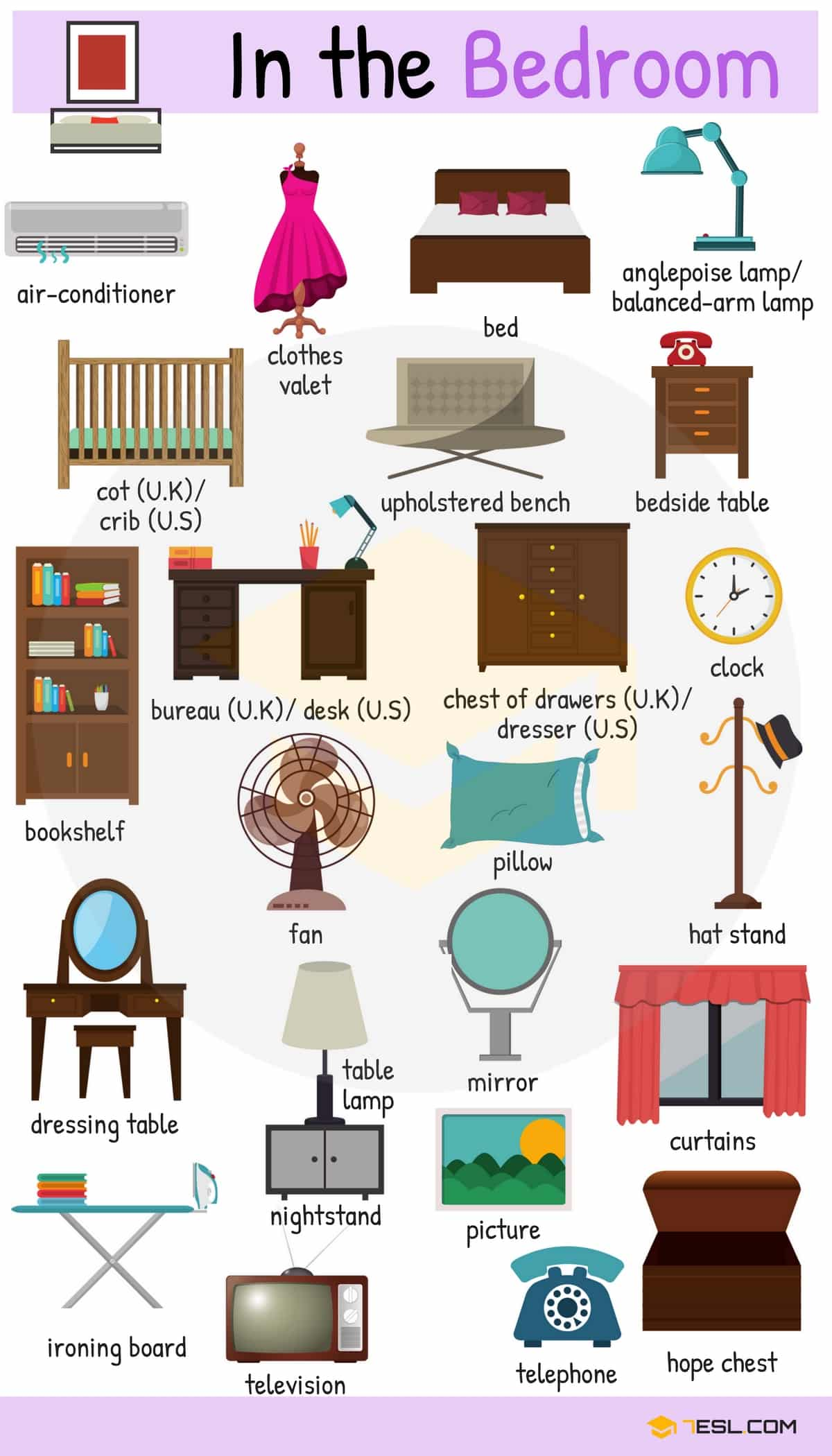 Things in the with. Furniture clipart bedroom thing