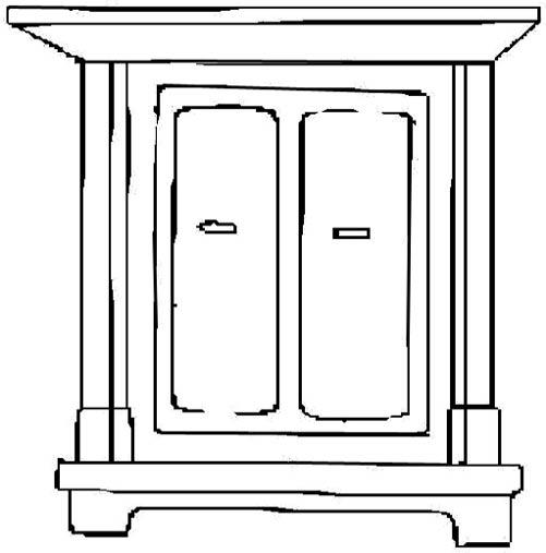 The interior designs . Furniture clipart black and white