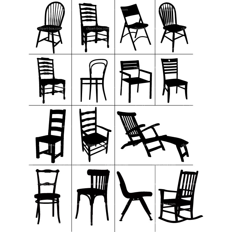 Furniture clipart black and white. Free download clip