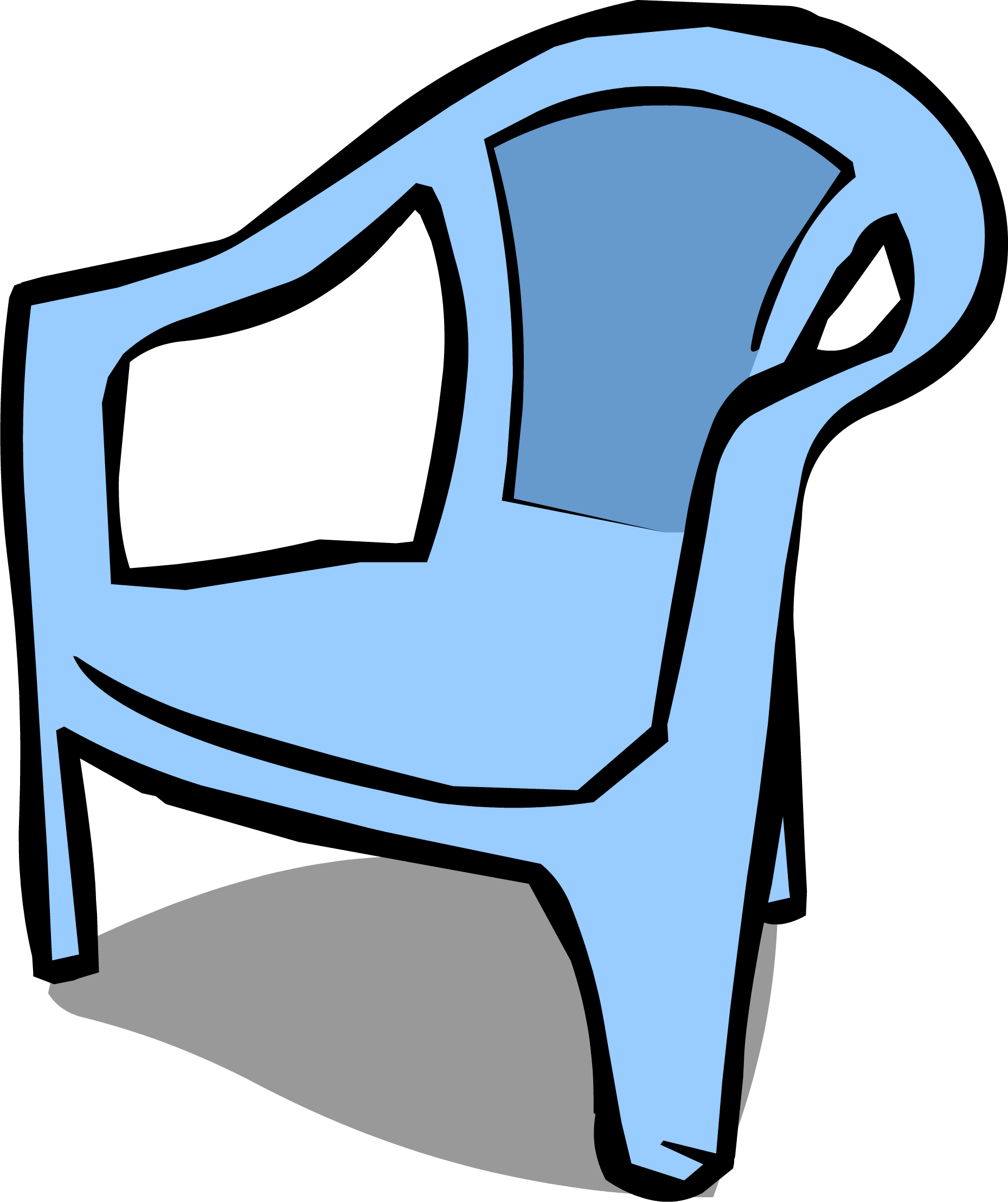 Furniture clipart blue chair. Image sprite png club