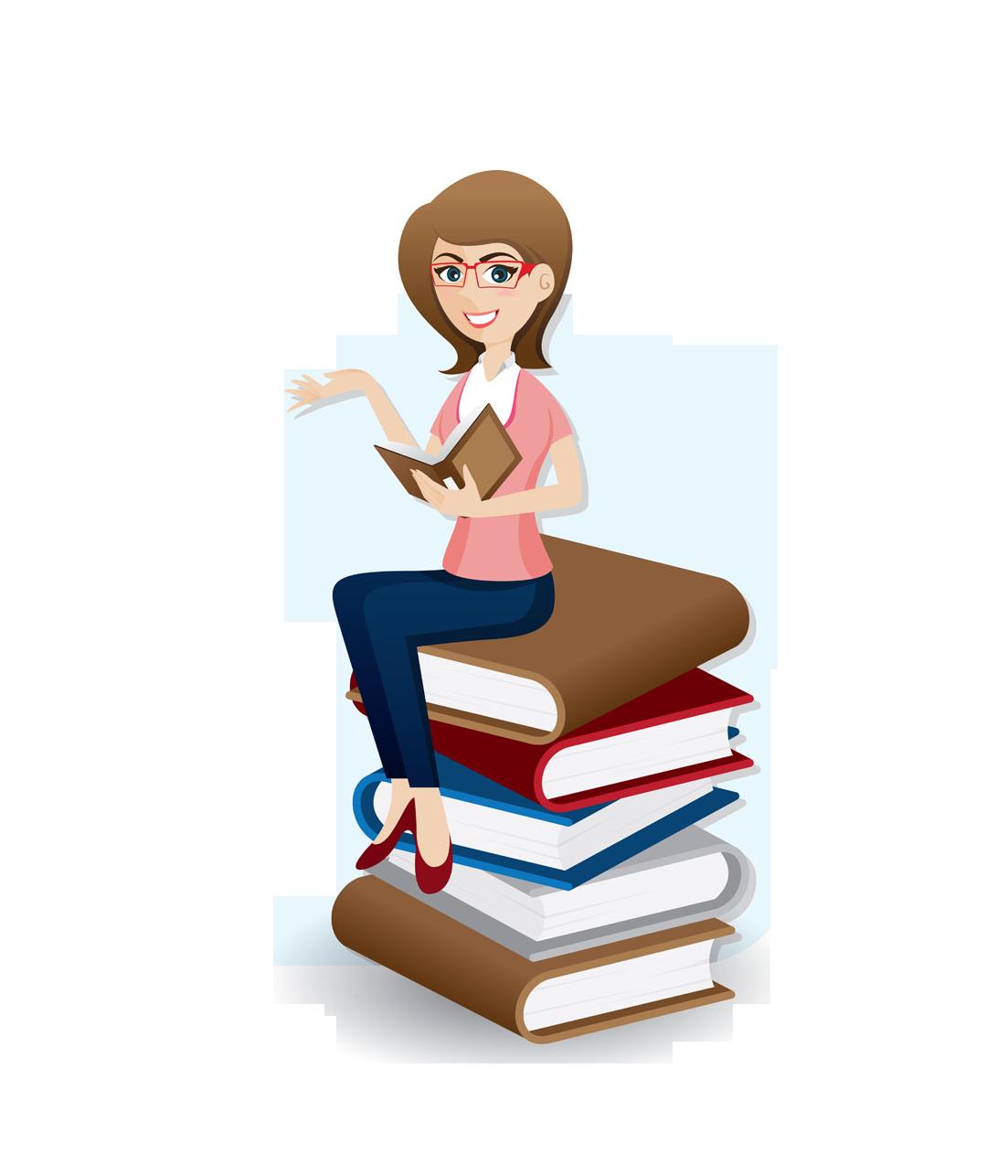 Furniture clipart book table. Woman clip art professional
