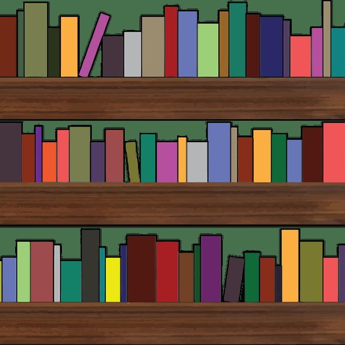 Rainbow bookshelves are the. Furniture clipart bookshelf