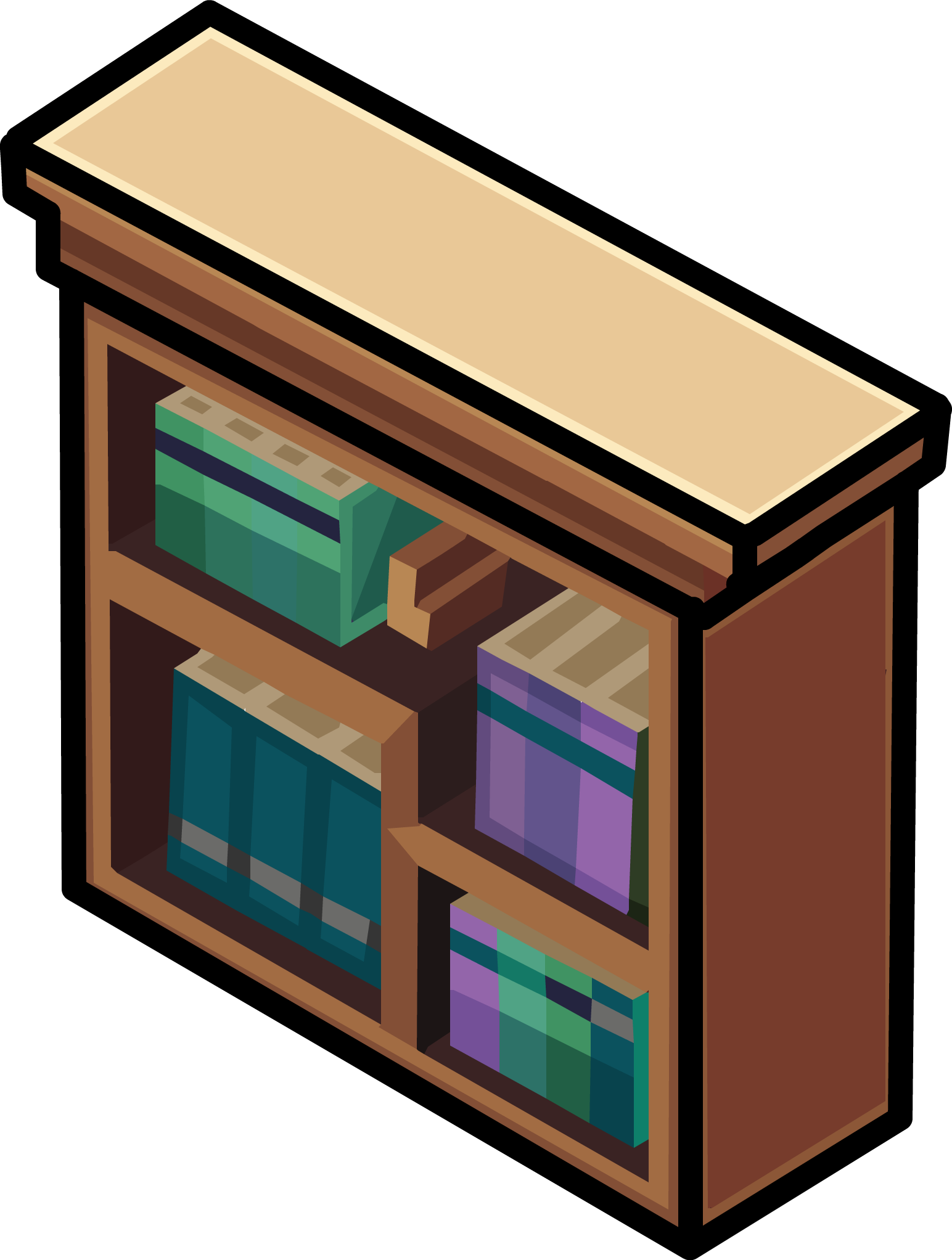 Classy club penguin wiki. Furniture clipart bookshelf