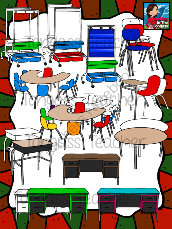 Bundle from tongassteacher on. Furniture clipart classroom furniture
