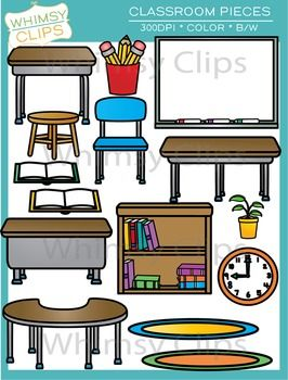 Furniture clipart classroom furniture. Pieces and clip art